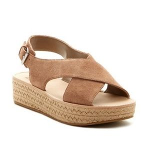 NEW Dolce Vita Zayda Taupe Suede Espadrille Sandal